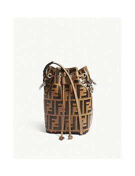 Mon Tresor Small Leather Bucket Bag by Fendi
