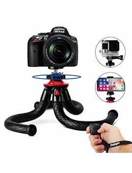 I Phone X Tripod, Fotopro Flexible Travel Tripod Stand Bluetooth Remote Control Samsung S9 S6 Huawei Sony X Go Pro Sony Canon Nikon,Sony Xperia Lg Dslr Cam,Cell Phone Tripod Stand Holder by Amazon