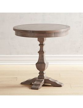 Shadow Gray Round End Table by Bradding Collection