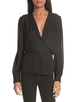 Cara Silk Wrap Blouse by L'agence