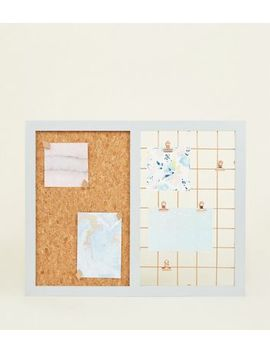 White Contrast Grid And Cork Board by New Look