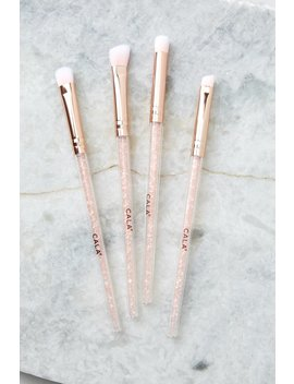 Shimmering Rose Quartz Eye Brush Set by Cala