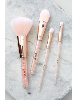 Flawless Rose Quartz Face And Eye Brush Set by Cala