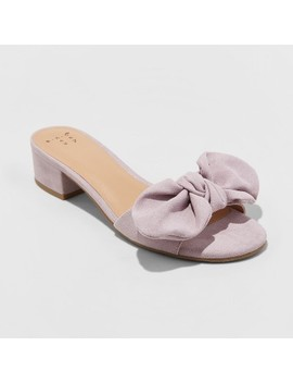 Women's Hyleta Knotted Bow Heeled Mules   A New Day™ Lavender by Shop All A New Day™