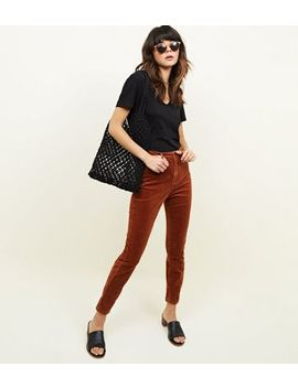 Rust Corduroy Super Skinny Dahlia Jeans by New Look