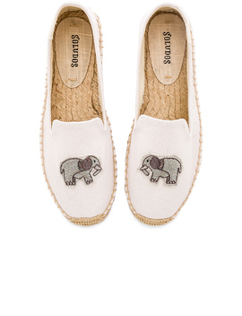 Elephant Beaded Smoking Slipper by Soludos