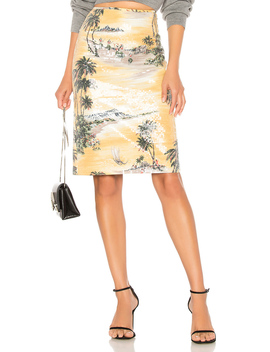 Hawaiian Shine Pencil Skirt by Le Superbe