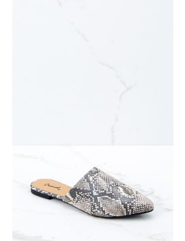 Bad Blood Snakeskin Mule Slides by Qupid