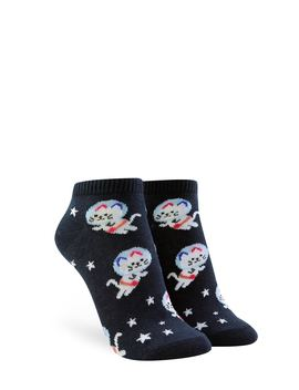Space Cat Graphic Ankle Socks by Forever 21