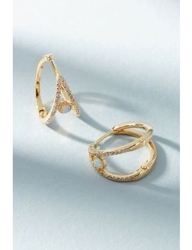Adorned Hugger Hoop Earrings by Anthropologie
