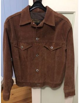 Tan Suede Trucker Jacket (Medium) by Ebay Seller