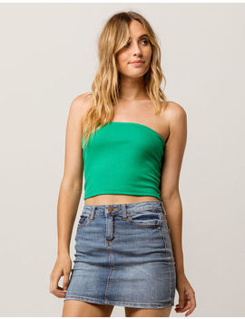 Full Tilt Basic Ribbed Kelly Womens Tube Top by Full Tilt