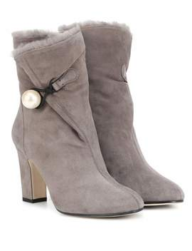 Ankle Boots Bethanie 85 Aus Veloursleder by Jimmy Choo