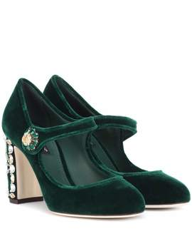 Verzierte Pumps Aus Samt by Dolce & Gabbana