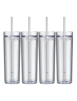 Skinny Acrylic Tumbler Double Wall 16 Oz   Clear by Save A Cup