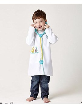 Elc Doctor's Outfit And Stethoscope Medical Coat Fancy Dress Up Ages 3 6 Yrs by Elc