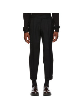 Black Japanese Serge Trousers by Alexander Mcqueen