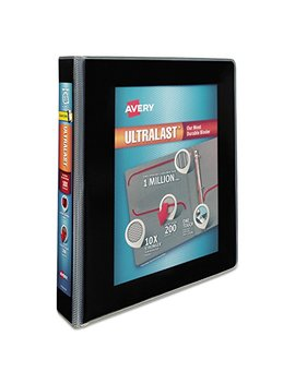 "Avery Ultralast Binder With 1 1/2"" One Touch Slant Rings, Black (79711) by Avery"