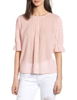Pretty Pleated Top by Hinge