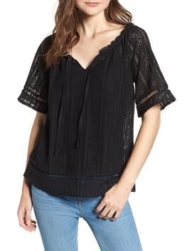 Lace Open Sleeve Top by Hinge