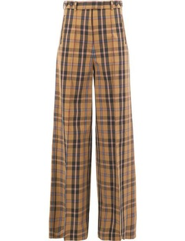 Checked Palazzo Trousers by Rokh
