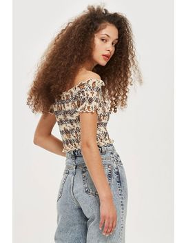 Trailing Flower Bardot Top by Topshop