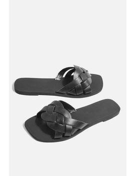 **Wide Fit Holla Woven Sliders by Topshop