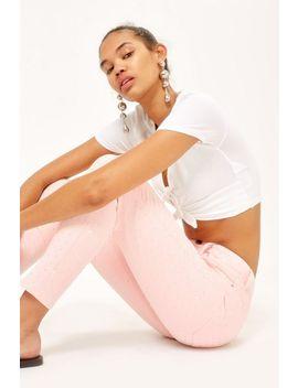 Moto Pink Diamante Jamie Jeans by Topshop