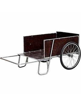 """Outfitted With Galvanized Steel Edging Yard/Garden Cart, 67""""W, 13.6 Cu. Ft. by Galvanized Steel"""
