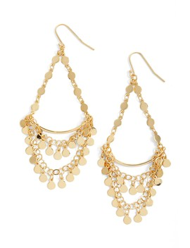 18 K Gold Plated Sterling Silver Chandelier Drop Earrings by Argento Vivo
