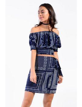 **Bandana Wrap Skirt By Glamorous by Topshop