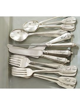 Antique Silver Sentiment Flatware by Pottery Barn