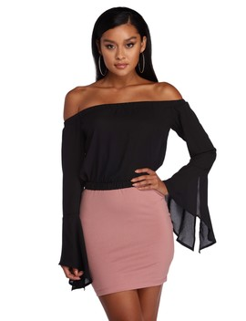 Caught Off The Shoulder Blouse by Windsor