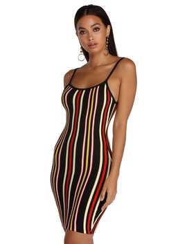 Striped In Knit Mini Dress by Windsor