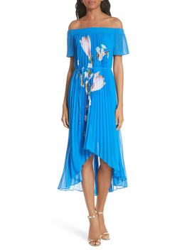 Harmony Pleat High/Low Dress by Ted Baker London