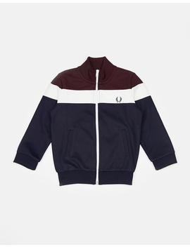 Colour Block Track Jacket   Kids by Fred Perry