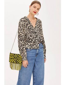 Petite Animal Print Shirt by Topshop