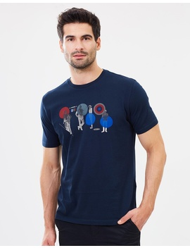Psych Circles Graphic Tee by Ben Sherman