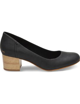 Black Leather Women's Beverly Pumps by Toms