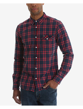 Casual Long Sleeve Plaid Shirt by Wrangler