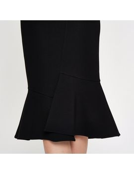 black-peplum-hem-pencil-skirt by river-island