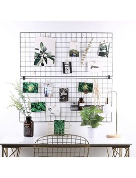 """Rumcent Multifunction Metal Mesh Grid Panel,Wall Decor/Photo Wall/Wall Art Display & Organizer,Pack Of 2 Pcs,Size:17.7"""" X 37.4""""/45x95 Cm,Black Color by Rumcent"""