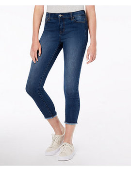 Juniors' Cropped Raw Hem Jeans by Celebrity Pink