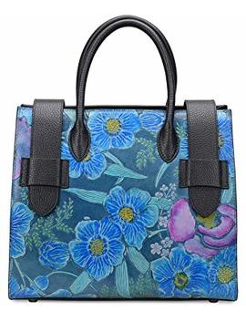 Pifuren Womens Floral Handbag Designer Top Handle Satchel Flower Purses by Pifuren