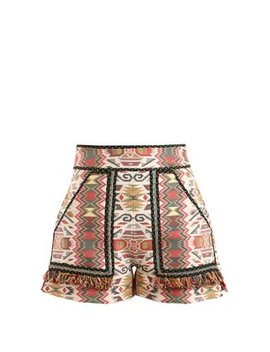 Aztec Jacquard Cotton Blend Shorts by Talitha