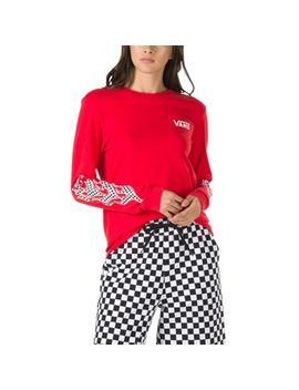 Flame Check Long Sleeve Boyfriend Tee by Vans