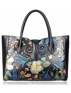 Pijushi Floral Handbag Womens Designer Bag Ladies Shoudler Handbags Top Handle 91776 by Pijushi