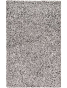 """A2 Z Rug (80x150 Cm (2ft8"""" X 5ft) Silver) Cozy Shag Collection Solid 5.5 Cm Pile Shag Rug Contemporary Living & Bedroom Soft Shaggy Area Rug, Carpet by A2 Zrug"""