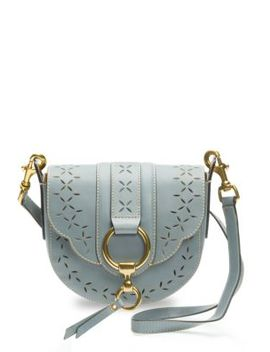 Ilana Small Perforated Leather Saddle Bag by Frye