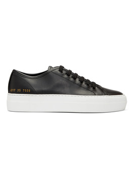 Black & White Tournament Low Super Sneakers by Woman By Common Projects